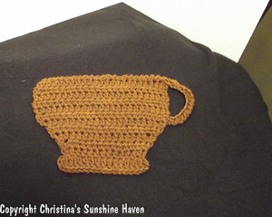 Cup a' Latte Dishcloth